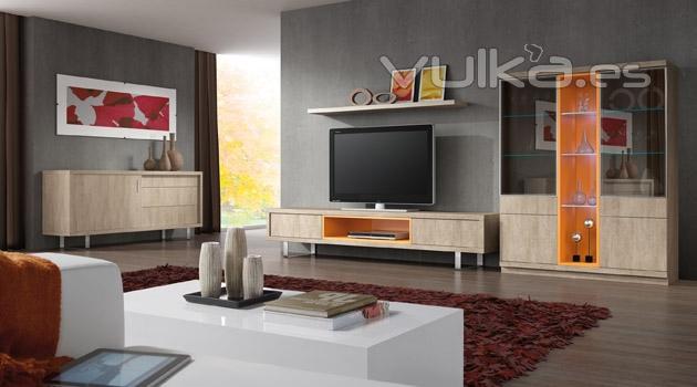 Foto muebles de salon comedor en color piedra del for Muebles color piedra