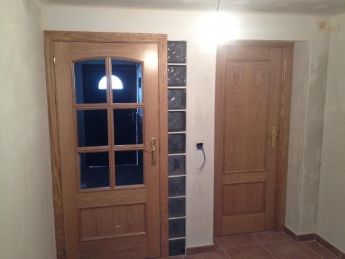 puertas 2 cuadros roble