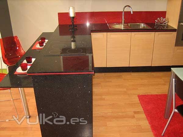 Foto encimera de granito para cocina for Encimera cocina marmol o granito
