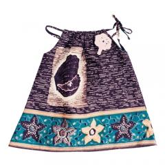 Vestido tirantes para beb� y ni�a algod�n hecho a mano estampado africano la marca Le Petit Mammouth