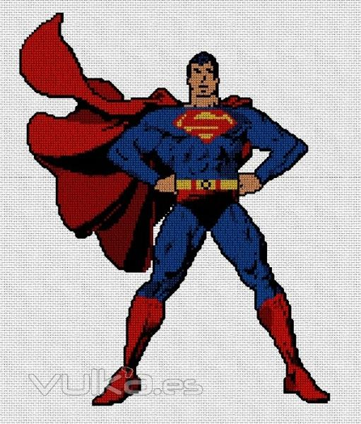Foto: Patron punto de cruz superman