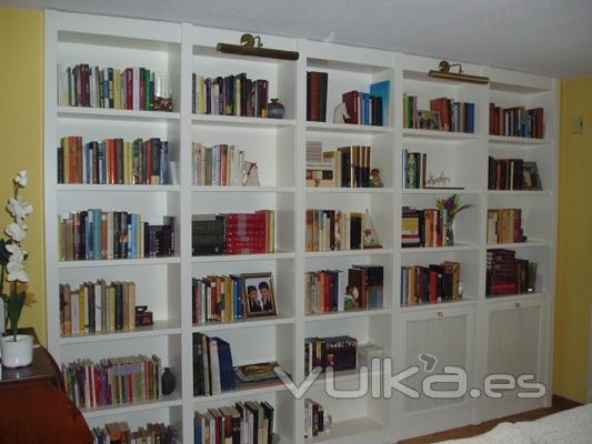 Fabritecma - Biblioteca madera blanca ...