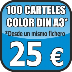 OFERTA CARTELES DIN A3 COLOR