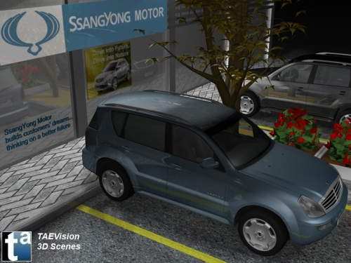 Escenas 3D TAEVision - Soluciones Web Automoci�n - SSANGYONG MOTOR Crossover SUV Rexton