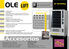 Expendedora con bandeja elevadora para productos delicados