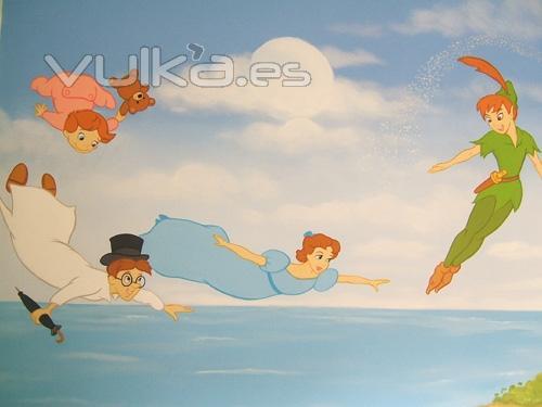 Foto murales pintados a mano alzada sobre paredes lisas o - Murales infantiles pintados a mano ...
