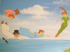 Murales pintados a mano alzada sobre paredes lisas o gotele