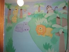 Murales artisticos en paredes lisas y gotele