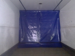 Separador carga con guias correderas para camiones frigorificos a medida