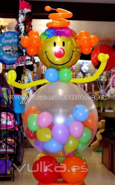 Centros de mesa de payasos graffiti graffiti car - Como hacer figuras con globos ...