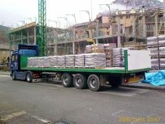 Transporte de materiales paletizados con o sin grua.