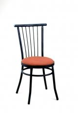Silla mod. s-8. asiento tapizado. pintura al horno en azul forja.