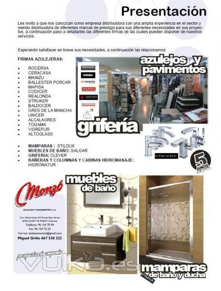 Muebles De Baño Quart De Poblet:Monzo Azulejos Y Saneamientos Sa Quart De Poblet – Valencia