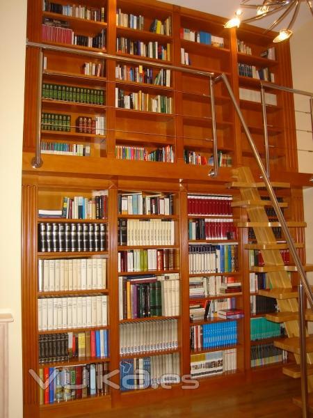 Foto libreria dos alturas y escalera for Escalera libreria