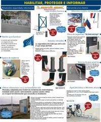 Mobiliario urbano para centros lúdicos,bolardos,vitrinas,aparcabicicletas,banderas,mástiles bandera