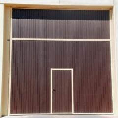 Puerta industrial (prelevas) color tabaco