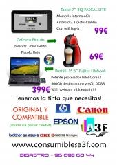 Algunas ofertas disponibles en www.consumiblesa3f.com y nuestra tienda física de Bigastro.