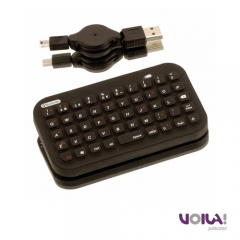 Teclado compatible para iPad e iPhone