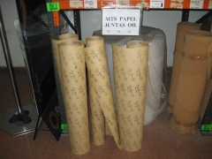 Metros de papel juntas oil.
