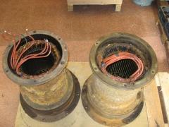 Bobinado de motores de bombas aguas residuales.