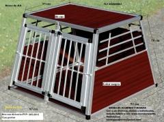 Box para transporte de perros jls, de aluminio y conglomerado