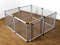 Parque para cachorros de aluminio 8 piezas