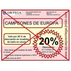 Vale descuento celebracion eurocopa solicitarlo por mail a azulejosortega@hotmail.com