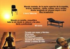 Masaje de silla y de camilla desde 30 euros.