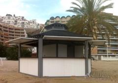 Kiosco hexagonal de madera. www.navarrolivier.com