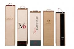 Cajas plegables de madera y cart�n para vino, cava, champagne y licores