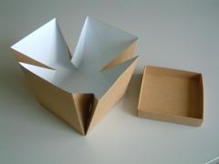 Caja cartón flor