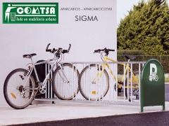 Z-6900 aparcabicis sigma para 16 plazas de bicicletas en acero
