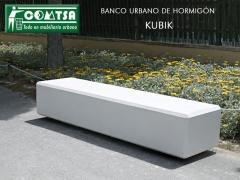 Z-1740 bancos hormigon kubik. banco urbano. mobiliario urbano bancos