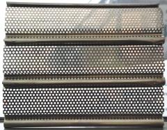 Muestra de lama microperforada de 8cm de cierre enrollable de acero inoxidable