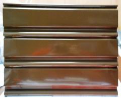 Lama ciega de 8cm de cierre enrollable de acero lacada en marron r.a.l 8014