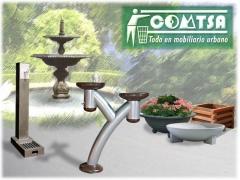 Jardineras ecol�gicas, jardineras fundici�n, fuentes para beber, fuentes jard�n, etc...