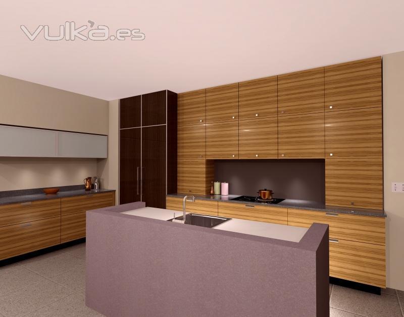 Foto fotos de cocinas hogar realizadas con el programa de for Programa de diseno de banos