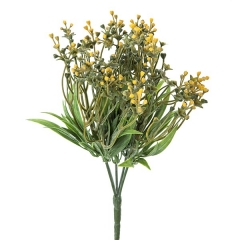 Plantas artificiales con flores. planta eucalipto artificial bayas amarillas en la llimona home