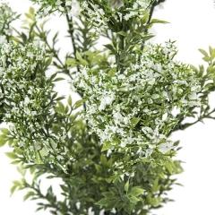 Plantas artificiales flores. planta flores allium artificiales bush blancas 45 en la llimona home 1