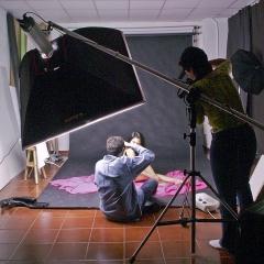 Clase de iluminaci�n de estudio en acai. sabadell