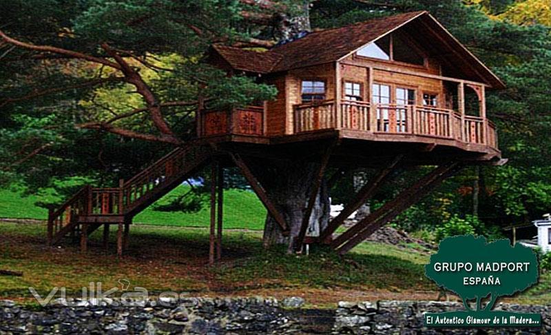 Grupo madport el glamour de la madera - Como construir una casa en un arbol ...