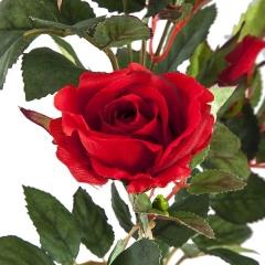 Flores artificiales. rama flores rosas artificiales cherry rojas 72 en la llimona home (2)