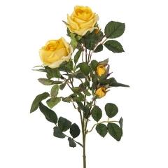 Flores artificiales. rama flores rosas artificiales cherry amarillas 72 en la llimona home