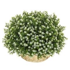 Plantas artificiales con flores. planta flores bush margaritas artificiales blanca la llimona home 2