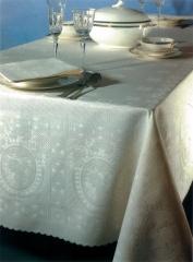 Mantel de damasco,en un elegante color crudo