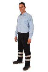 Camisa laboral m/l y pantalon pana alta visibilidad