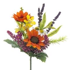 Ramos artificiales. ramo flores artificiales mini silvestre naranja 29 en la llimona