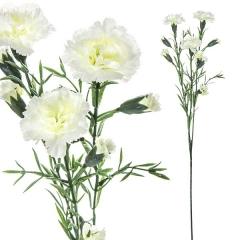 Flores artificiales. rama flores clavellinas artificiales blancas 60 en la llimona home (1)