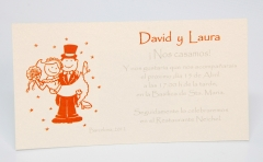 Invitación de boda. modelo tarjetón