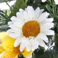Ramos artificiales. ramo flores artificiales multicolor margaritas rosas en la llimona home (2)